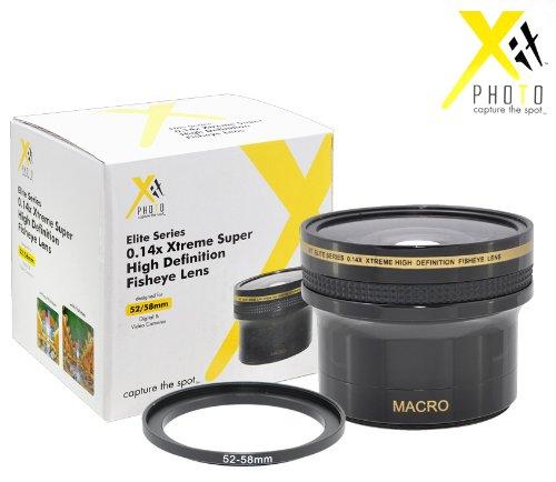 Xit XT1458F 52/58mm 0.14x Super Fisheye Lens (Black) by Xit