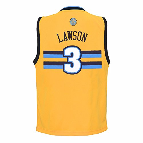 (adidas Ty Lawson Denver Nuggets NBA Gold Official Alternate Replica Basketball Jersey for Toddler (3T))