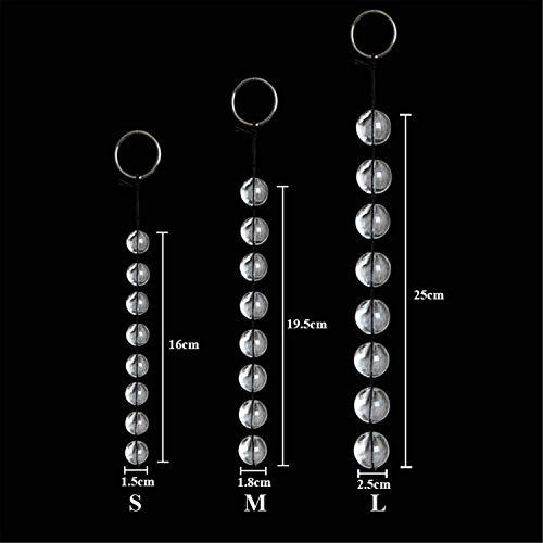 3 Sizes annuus Beads Vasdginal Balls Transparent Glass annuus Sxd Toys Chain Bead f*ckGame Products M,OneSize,S -