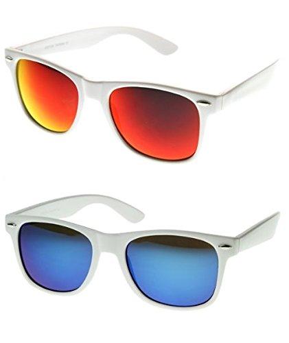 PURECITY® Gafas de Sol Estilo Wayfarer Espejo Retro Moda Fashion Vintage Para Hombre y Mujer - 100% UV400 CE - 50 modelos para elegir