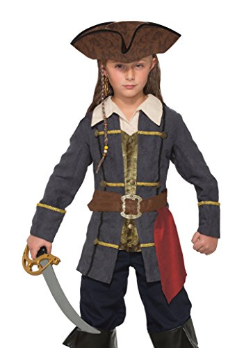 [Forum Novelties Kids Captain Cutlass Costume, Multicolor, Large] (Ship Captain Costumes)
