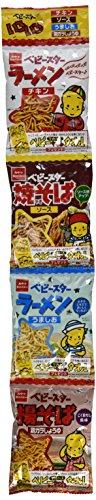 (Japanese Ramen Snack Babystar 4 Flaver set, 2.54oz(18g x 4pack))