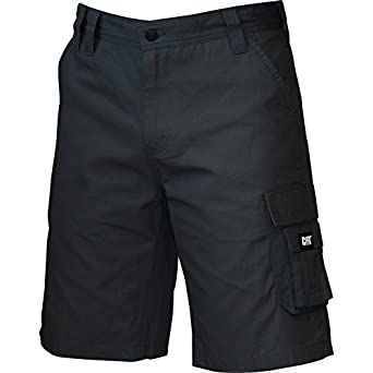 Caterpillar Mens Durable Light Workwear Shorts Black