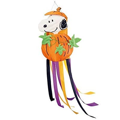 Peanuts Snoopy Halloween Pumpkin Fall Windsock : Garden & Outdoor