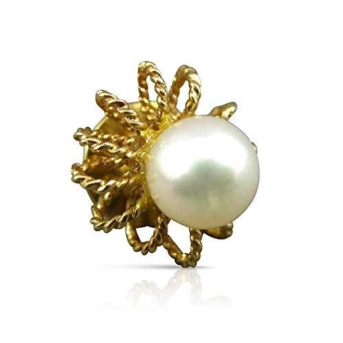 Milano Jewelers AAA South SEA Pearl 14KT Yellow Gold 3D Flower Brooch PIN #26650