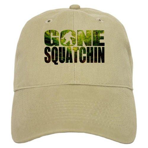 CafePress Gone Squatchin Special Deep Forest Edition Cap - Standard Khaki