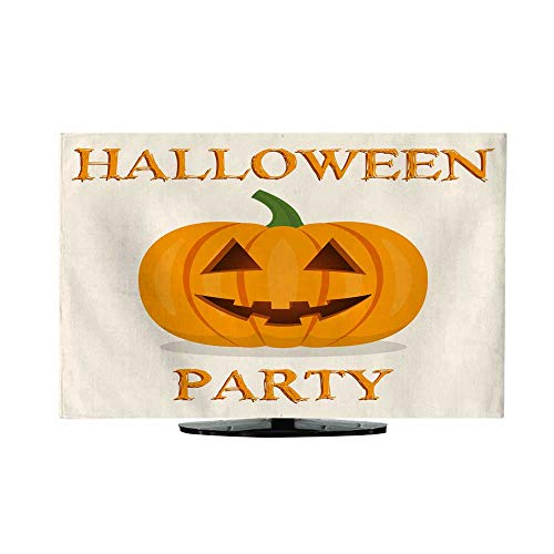 Miki Da Indoor tv covertv dust Cover 47/48 inch Halloween Party Banner with Pumpkin Vector -