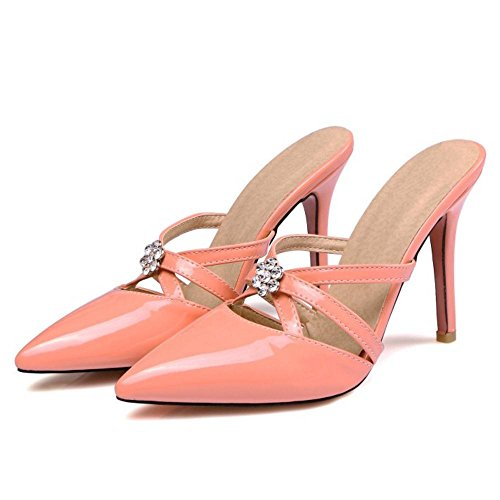Sandales Femme Mules Aiguille Pink Talon Mode Strass AicciAizzi ywTqHYgg
