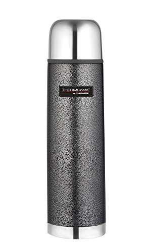 Thermos ThermoCafé Stainless Steel Flask, Hammertone Grey, 1.0 L