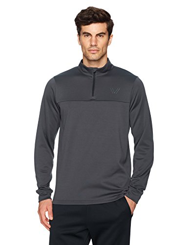 Peak Velocity Men's Quantum Fleece 1/4 Zip Athletic-Fit Top, asphalt, Large
