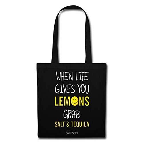 World Tote Lemons Gives Spreadshirt Smiley When You Quote Bag Live Black F8wa7q1a5