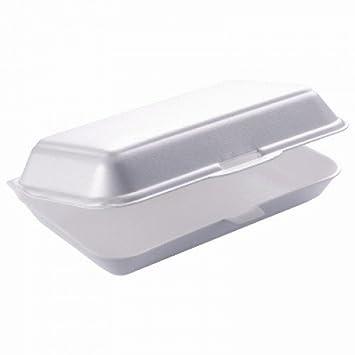 """Thali Outlet® – 250 x 7 """"caja de hamburguesa Blanco Espuma Poliestireno recipientes"""