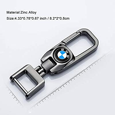 HEY KAULOR Car Logo Key Chain Key Ring for BMW X1 X3 M3 M5 X1 X5 X6 Z4 3 5 7SeriesBusiness Gift Birthday Present for Men and Woman Pack of 2: Automotive