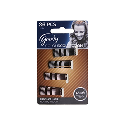 Goody Colour Collection Metallic Small Bobby Pin, Black, 26 Count (Pack of 3)
