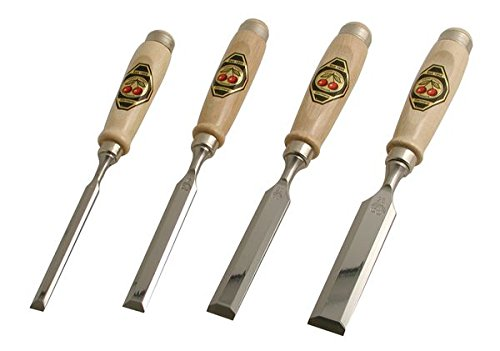 Cherries Chisels Two - Robert Larson 500-1564 Bevel Edge Chisels (Set of 4)