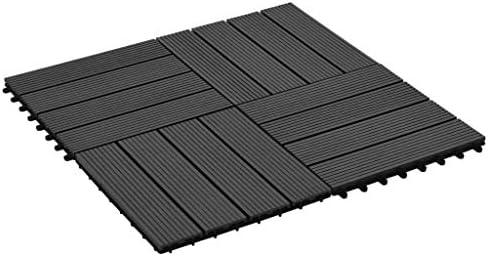 Azulejos de jardín de WPC, 11 unidades, 1 m2, suelo para exterior empotrado, baldosas para Decking, baldosas de jardín para pavimentación exterior terraza, 30 x 30 cm, negro: Amazon.es: Bricolaje y herramientas