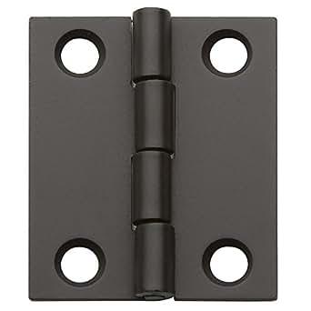 "Flat Butt Hinge 1-1/2"" X 1-1/4"", Oil-Rubbed Bronze"