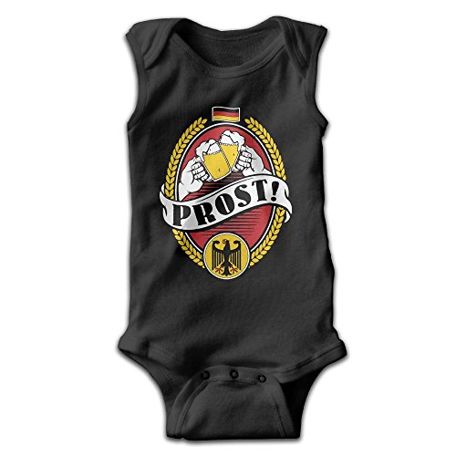 Richard Lyons Unisex Newborn Bodysuits German Prost Boys Babysuit Sleeveless Jumpsuit Sunsuit Outfit 18 Months Black -