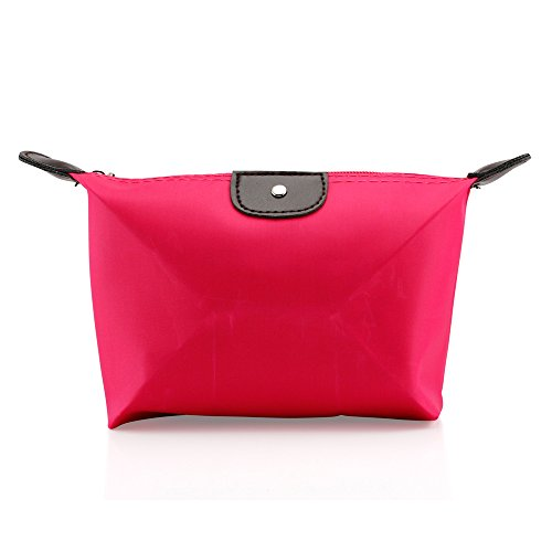 GEARONIC TM Pouch Cosmetics Case Makeup bag Multifunction Travel Accessory Organizer- Hot Pink (Accessories Cases Bag)