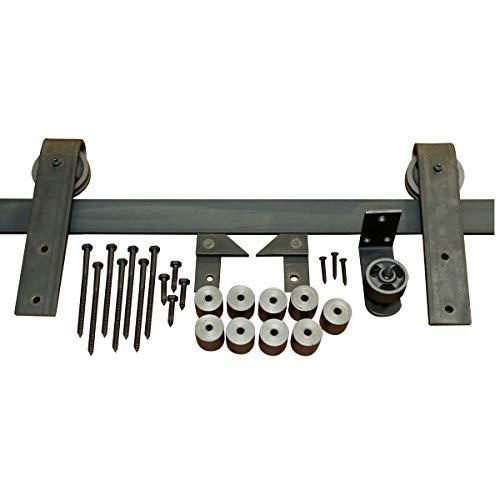 Sliding Barn Door Hardware – Door Track Slides Smoothly & Quietly – Slider Barndoor Roller Set – Heavy Duty Door Trolley…