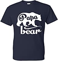 Fresh Tees - Papa Bear T-shirts Father's Day Shirt papa tshirt father day gift (X-Large, Navy Blue)