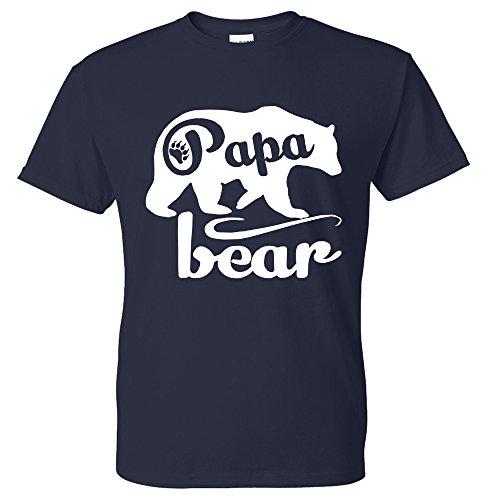 Fresh Tees - Papa Bear T-shirts Father's Day Shirt papa tshirt father day gift (X-Large, Navy Blue)