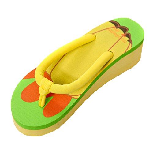 CHENGYANG Damen Sommer Früchte Flip Flops Karikatur Mode Wedge Platform Zehentrenner Schuhe Chili
