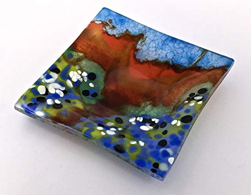 Bluebells in the Texas Hill Country 5.5 Inch Handcrafted Fused Glass Decorative Bowl