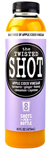 The Twisted Shot - Organic Apple Cider Vinegar Shots with Turmeric, Ginger, Cinnamon, Honey & Cayenne - 16oz Bottle