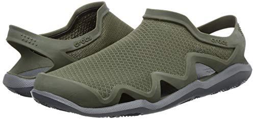 Crocs Men's Swiftwater Mesh Wave Sandal | Casual Outdoor Slip On Sandals for Men