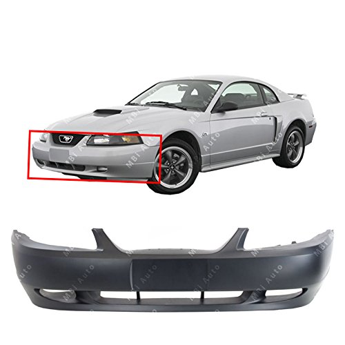MBI AUTO - Primered, Front Bumper Cover Fascia for 1999 2000 2001 2002 2003 2004 Ford Mustang GT 99-04, ()