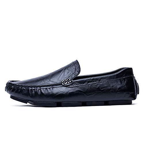 pelle floreale Casual barca copertura con 39 EU Drive Flat Flat incisa Mocassini Marrone Men's business in Mocassini Color Ofgcfbvxd Nero Dimensione Scarpe On a Slip wYvUOx7