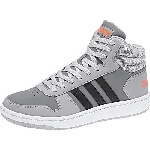 gritre Hoops Gymnastique Vs negbas Chaussures 000 Mid 2 gridos 0 Adidas De Gris Homme C7wUq1q5