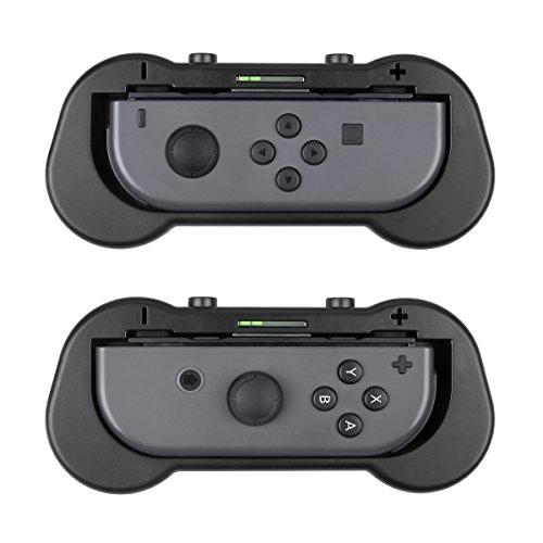 Zecti Joy-Con Grips for Nintendo Switch , Ergonomic Design Comfort Game Handle Kit for Nintendo Switch Joy-Con Controllers, 2 Pack (Black)