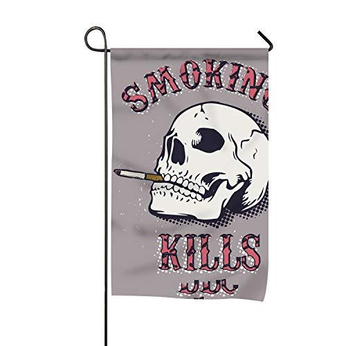 Niaocpwy Smoking Kills Garden Flag Holiday Spring Summer Yar