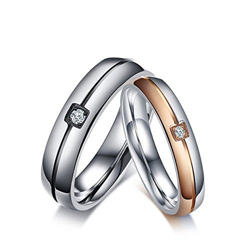 2f38c46287f5 KNSAM - anillos de bodas de acero inoxidable para hombres y mujeres ...