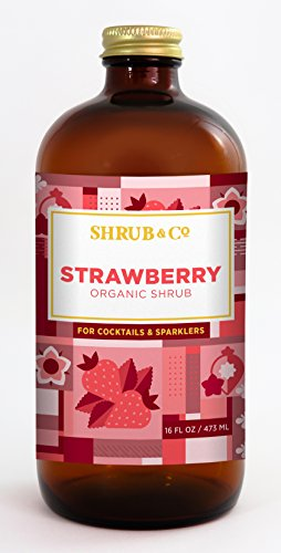 Organic Strawberry Shrub - Cocktail Mixer/Drinking (Cocktail Strawberry)
