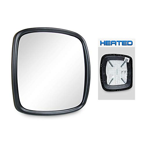 (Optix 1pc P.RA - 2003-2017 Freightliner M2 Heated Wide Angle Mirror Glass - 2003-2006 Freightliner Columbia Side View Mirror Replacement Heated )