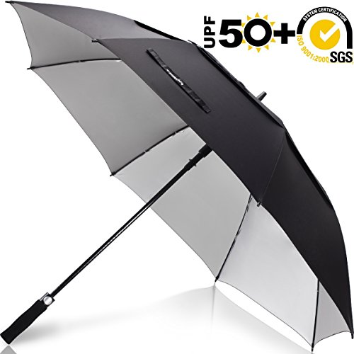 ZEKAR 54/62/68 inch UV Protection Windproof Large Golf Umbrella, Vented Sun Rain Beach Umbrella, Include Classic Version (62