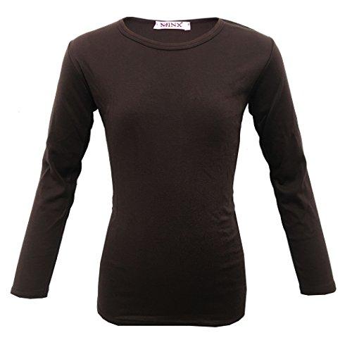 c3c9ef068894 Farstowe Minx Girls Plain Long Sleeve Kids Top Children Crew Neck T-Shirt  School Summer T-Shirt Age 2-13 Year - Buy Online in UAE.