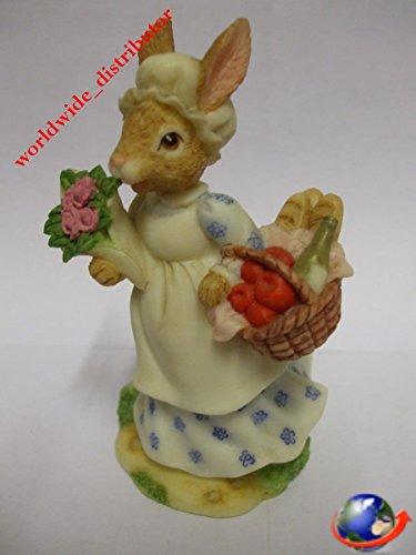 Royal Doulton Bunnykins MRS BUNNYKINS A BUSY MORNING SHOPPING DBR 7 Handpainted Polyresin Matt Finish Figurine