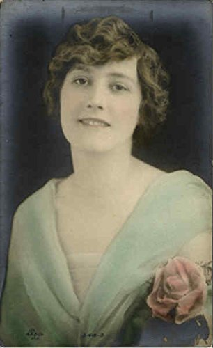 Tinted Real Photo Women Original Vintage Postcard (Tinted Photo Postcard)