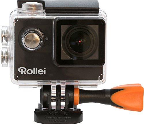 Rollei Actioncam 425 - 4k 2160p, Unterwassergehäuse für bis zu 40m Wassertiefe, 2.4 G Hochfrequenz-Handgelenk-Fernbedienung - schwarz