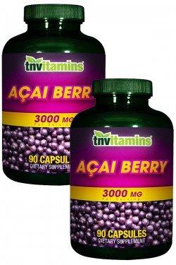 TNVitamins Brazilian Acai Berry 3000 Mg