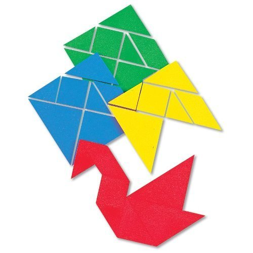 Tangram Floor (ETA hand2mind Giant ManipuLite Foam Floor Tangrams, Set of 4)