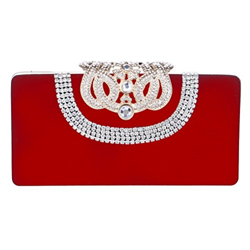 Bags SHISHANG Bags Party Bags Banquet Luxury Evening ZYXCC Red Ladies Fashion Evening Diamond qaxXra0
