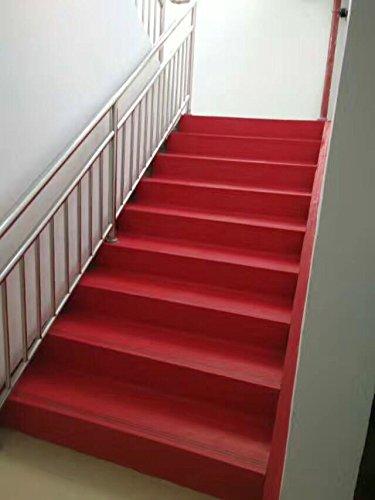 Safety Durable Eco Friendly Composite Stair Treads 20u0027u0027x59u0027u0027 Red