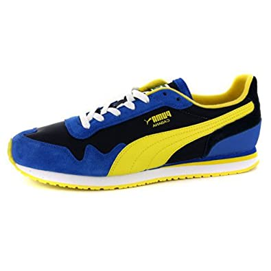 Herren Schuhe Puma Cabana Blau Gelb Retro Größe EUR 47