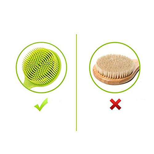Apprize Soft Silicone Shower Bath Brush with a Long Handle, 100% BPA-Free, Hypoallergenic, Eco-Friendly by Apprize (Image #3)