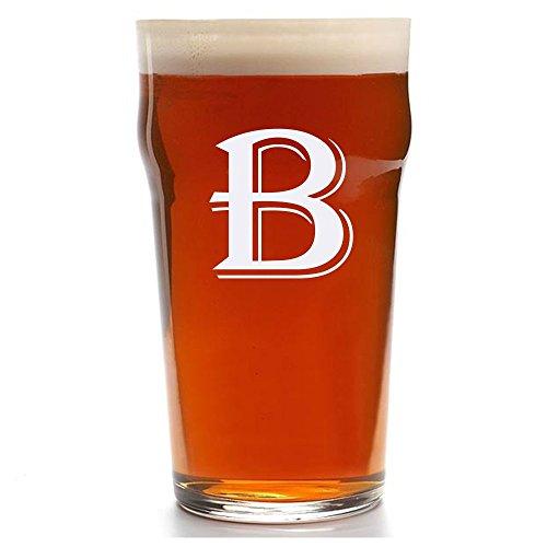 Custom Pub Glass, Personalized English Pub Glasses, Engraved Beer Pub Glass, Initial Beer - Custom Glasses Pub